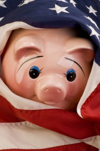 © W.Scott - Fotolia.com American Piggy Bank in Flag