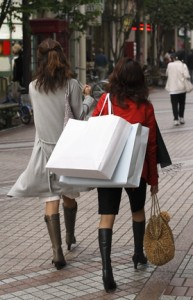 compulsive shopping habits, shopping addiction, two women shopping
